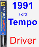 Driver Wiper Blade for 1991 Ford Tempo - Vision Saver