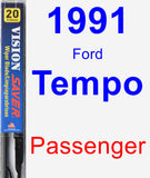 Passenger Wiper Blade for 1991 Ford Tempo - Vision Saver