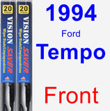 Front Wiper Blade Pack for 1994 Ford Tempo - Vision Saver