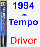Driver Wiper Blade for 1994 Ford Tempo - Vision Saver