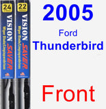 Front Wiper Blade Pack for 2005 Ford Thunderbird - Vision Saver