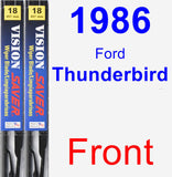 Front Wiper Blade Pack for 1986 Ford Thunderbird - Vision Saver