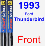 Front Wiper Blade Pack for 1993 Ford Thunderbird - Vision Saver