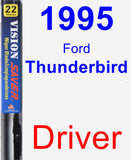 Driver Wiper Blade for 1995 Ford Thunderbird - Vision Saver