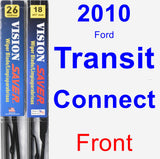 Front Wiper Blade Pack for 2010 Ford Transit Connect - Vision Saver