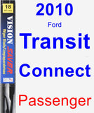 Passenger Wiper Blade for 2010 Ford Transit Connect - Vision Saver