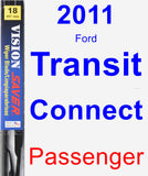 Passenger Wiper Blade for 2011 Ford Transit Connect - Vision Saver