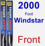 Front Wiper Blade Pack for 2000 Ford Windstar - Vision Saver