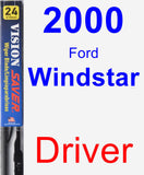Driver Wiper Blade for 2000 Ford Windstar - Vision Saver