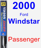 Passenger Wiper Blade for 2000 Ford Windstar - Vision Saver