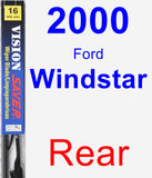Rear Wiper Blade for 2000 Ford Windstar - Vision Saver