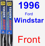 Front Wiper Blade Pack for 1996 Ford Windstar - Vision Saver