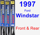 Front & Rear Wiper Blade Pack for 1997 Ford Windstar - Vision Saver