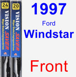 Front Wiper Blade Pack for 1997 Ford Windstar - Vision Saver