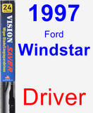 Driver Wiper Blade for 1997 Ford Windstar - Vision Saver