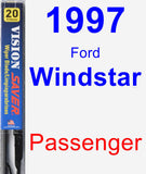Passenger Wiper Blade for 1997 Ford Windstar - Vision Saver