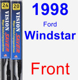 Front Wiper Blade Pack for 1998 Ford Windstar - Vision Saver