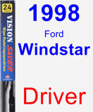 Driver Wiper Blade for 1998 Ford Windstar - Vision Saver
