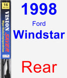 Rear Wiper Blade for 1998 Ford Windstar - Vision Saver