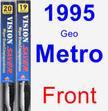 Front Wiper Blade Pack for 1995 Geo Metro - Vision Saver