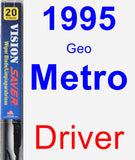 Driver Wiper Blade for 1995 Geo Metro - Vision Saver