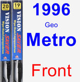 Front Wiper Blade Pack for 1996 Geo Metro - Vision Saver