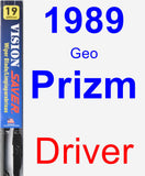 Driver Wiper Blade for 1989 Geo Prizm - Vision Saver
