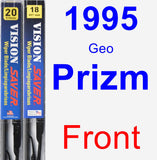 Front Wiper Blade Pack for 1995 Geo Prizm - Vision Saver