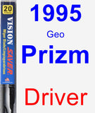 Driver Wiper Blade for 1995 Geo Prizm - Vision Saver