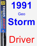 Driver Wiper Blade for 1991 Geo Storm - Vision Saver
