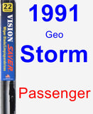 Passenger Wiper Blade for 1991 Geo Storm - Vision Saver