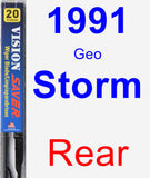 Rear Wiper Blade for 1991 Geo Storm - Vision Saver