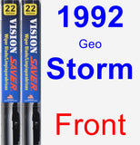 Front Wiper Blade Pack for 1992 Geo Storm - Vision Saver