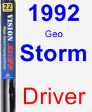 Driver Wiper Blade for 1992 Geo Storm - Vision Saver