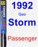 Passenger Wiper Blade for 1992 Geo Storm - Vision Saver