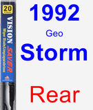 Rear Wiper Blade for 1992 Geo Storm - Vision Saver
