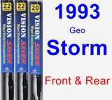 Front & Rear Wiper Blade Pack for 1993 Geo Storm - Vision Saver