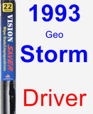 Driver Wiper Blade for 1993 Geo Storm - Vision Saver