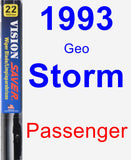 Passenger Wiper Blade for 1993 Geo Storm - Vision Saver