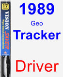 Driver Wiper Blade for 1989 Geo Tracker - Vision Saver