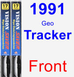 Front Wiper Blade Pack for 1991 Geo Tracker - Vision Saver