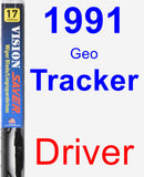 Driver Wiper Blade for 1991 Geo Tracker - Vision Saver