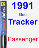 Passenger Wiper Blade for 1991 Geo Tracker - Vision Saver