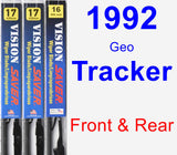 Front & Rear Wiper Blade Pack for 1992 Geo Tracker - Vision Saver