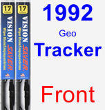 Front Wiper Blade Pack for 1992 Geo Tracker - Vision Saver