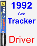 Driver Wiper Blade for 1992 Geo Tracker - Vision Saver