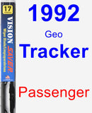 Passenger Wiper Blade for 1992 Geo Tracker - Vision Saver