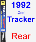Rear Wiper Blade for 1992 Geo Tracker - Vision Saver