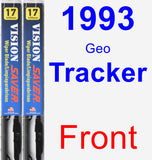 Front Wiper Blade Pack for 1993 Geo Tracker - Vision Saver