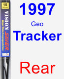 Rear Wiper Blade for 1997 Geo Tracker - Vision Saver